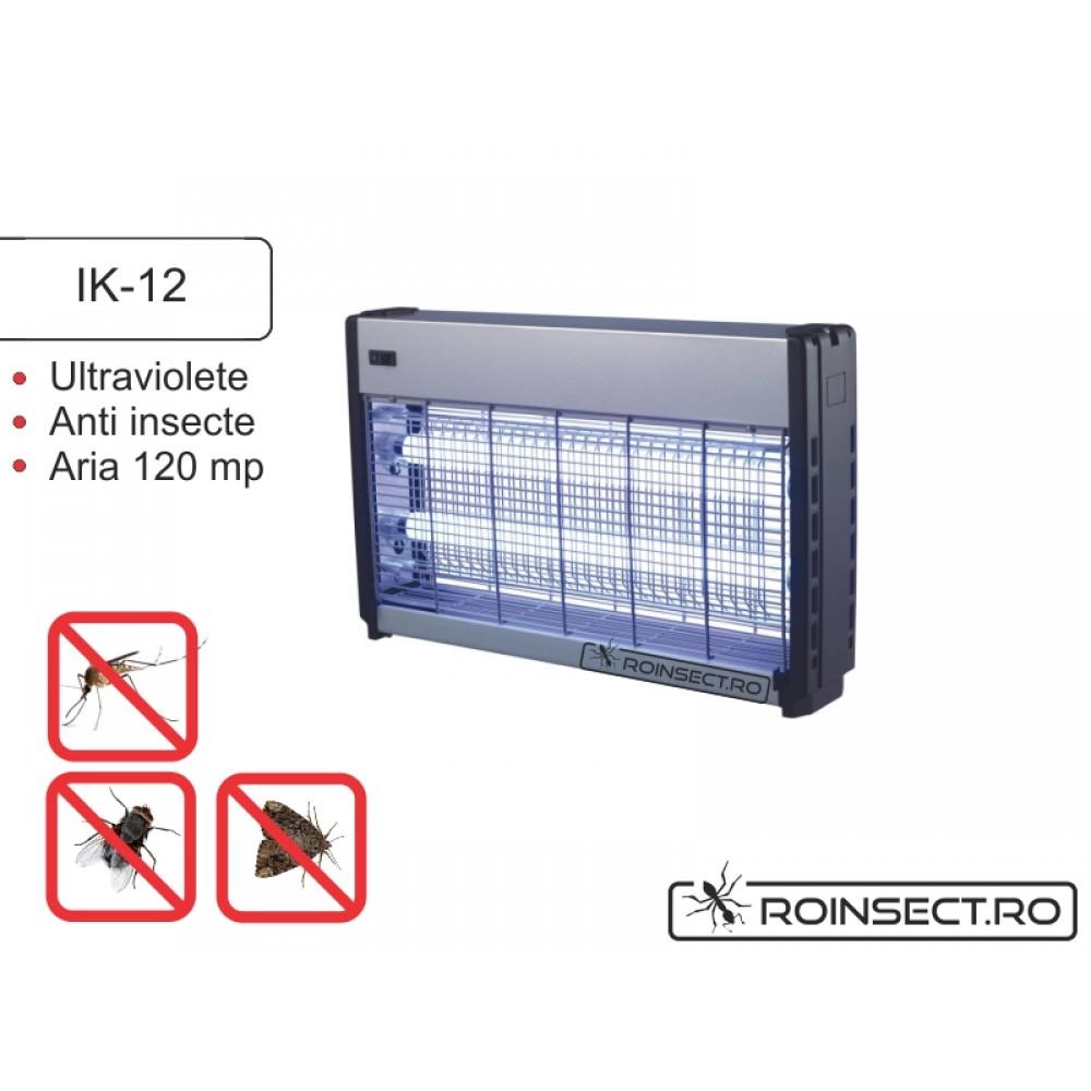Mini distrugator insecte cu lampi UV pentru terase IK 12 (acopera aprox. 120 mp)