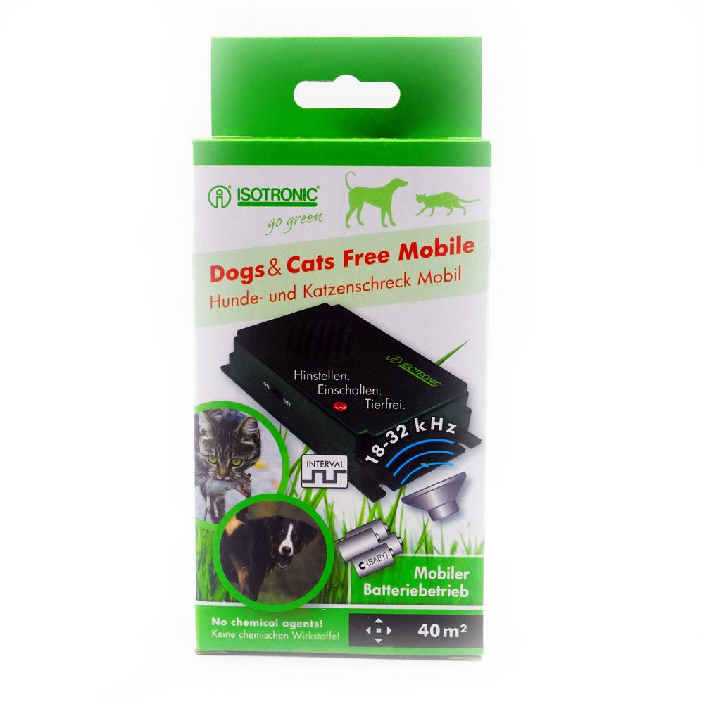 Aparat portabil cu ultrasunete pentru alungarea insectelor, cainilor si pisicilor Free Mobile 70626 40mp