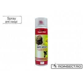 Spray Anti Viespi SuperKill cu jet de pulverizare pana la 4m pentru eliminarea cuiburilor de viespi 500ml
