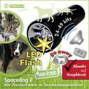 Aparat portabil cu lanterna pentru alungarea cainilor si pisicilor SpaceDog II 70590 6m
