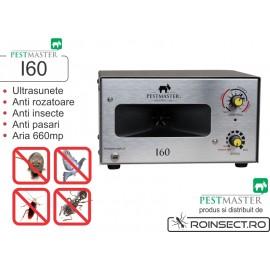 Aparat industrial cu ultrasunete impotriva rozatoarelor, pasarilor si insectelor - Pestmaster I60 - 660 mp