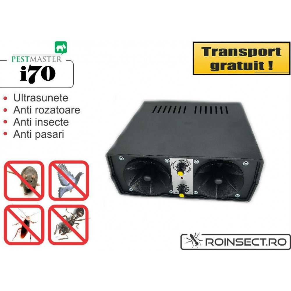 Aparat ultrasonic industrial Pestmaster i70 - impotriva soarecilor, sobolanilor, pasarilor si insectelor