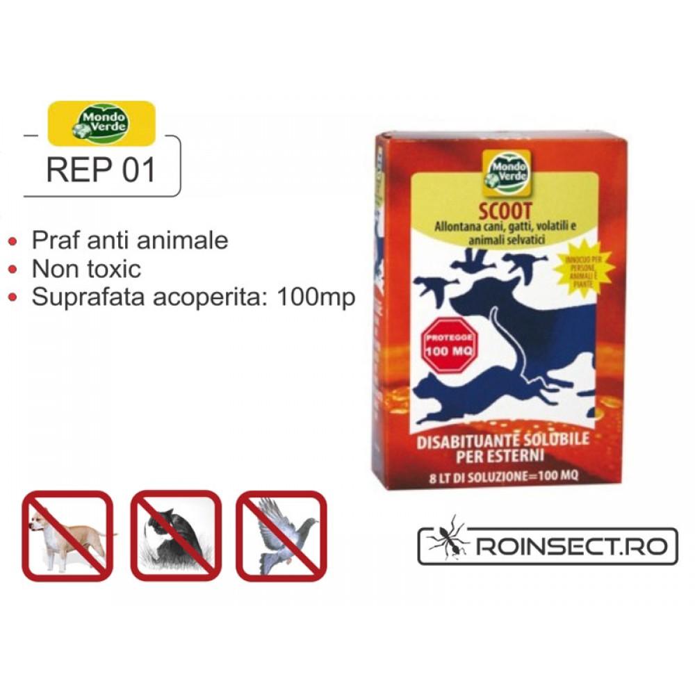 Praf solubil impotriva animalelor - anti caini, pisici, pasari - REP 01
