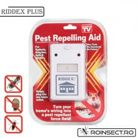 Pest Repeller  Riddex Plus - aparat electronic cu unde electromagnetice impotriva rozatoarelor si a insectelor taratoare. Aria de acoperire- 200mp