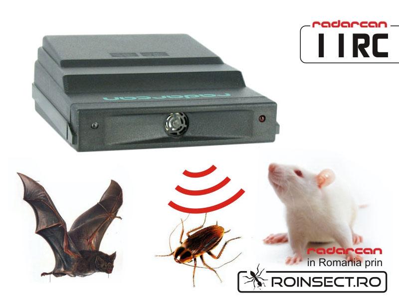 Aparat cu ultrasunete contra rozatoare, lilieci si gandaci 11RC - 120 mp (-20% reducere)