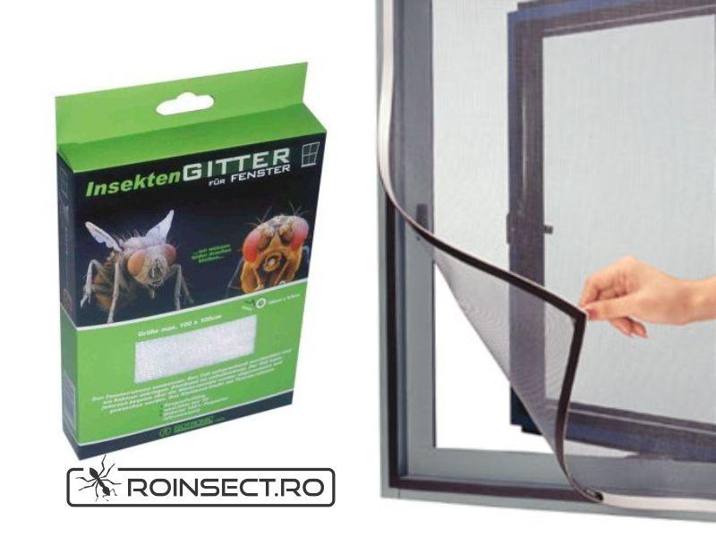 Plasa contra insectelor pentru usa 105 x 215 cm (alba / neagra)