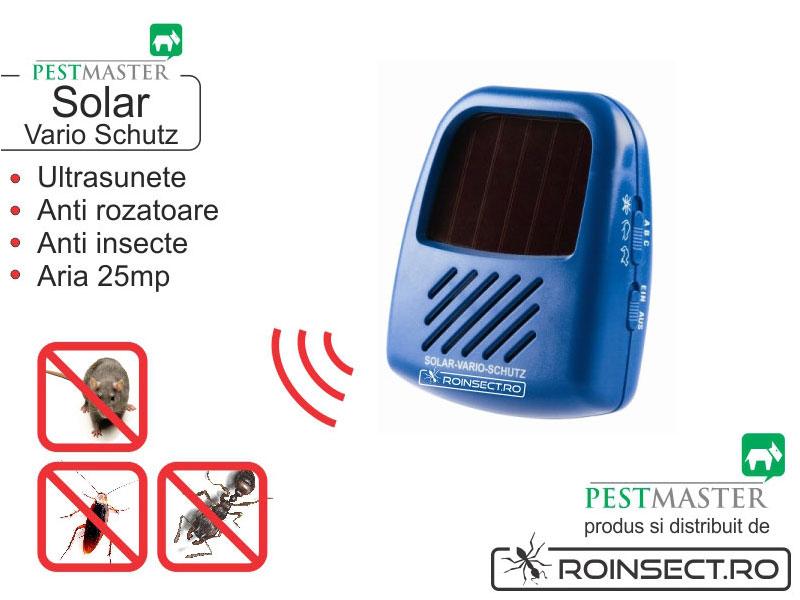 Aparat Vario SOLAR Blister (anti soarec, sobolan, tantari, cu frecventa reglabila pentru fiecare tip de daunator)