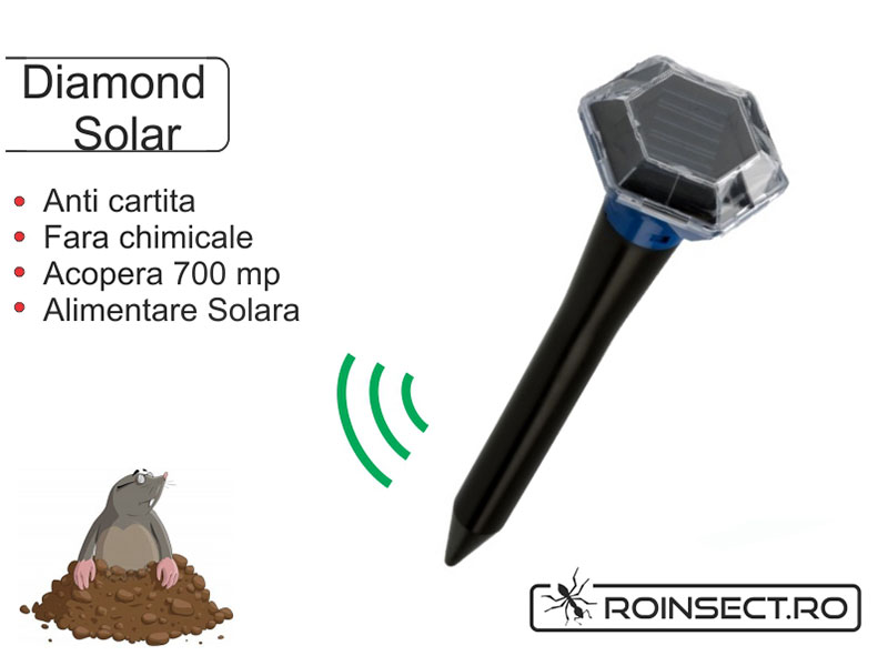 Aparat anti-cartita Solar Diamond, albastru (acopera 700 mp)