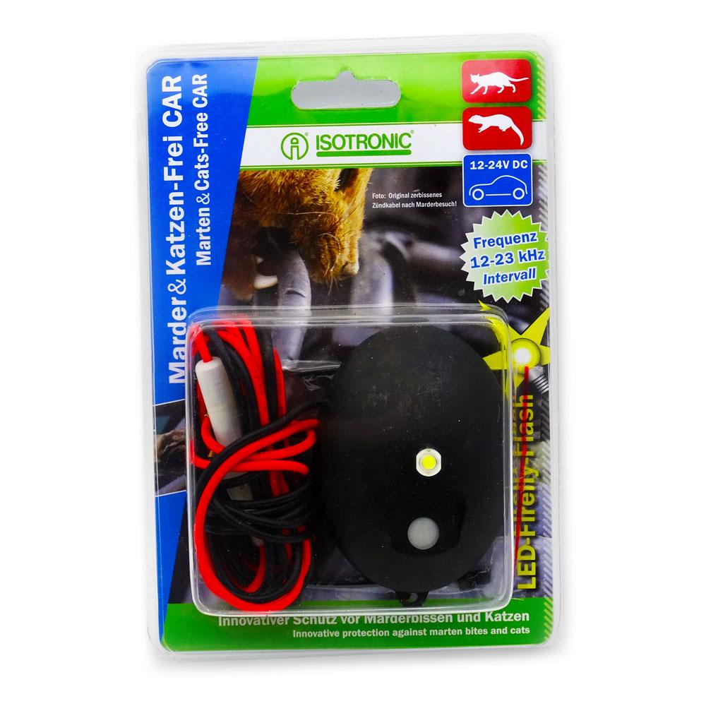 Generator cu ultrasunete pentru protectie auto, anti rozatoare, jderi, dihori, soareci, sobolani Marten Cats Free 78420