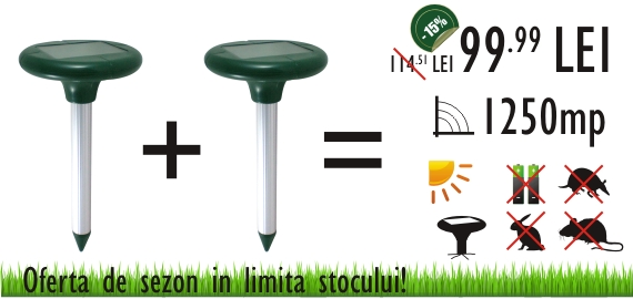 Anti cartita, soareci de camp, dihori si alte animale Pestmaster AG625 (OFERTA DE SEZON 2 bucati la 99.99 RON)
