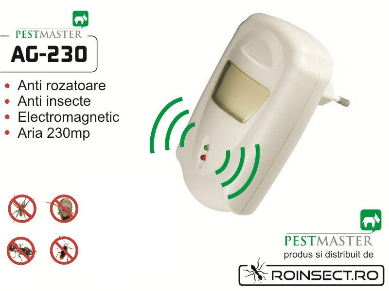 Aparat cu unde electromagnetice anti gandaci, anti rozatoare Pestmaster AG230 (230 mp)
