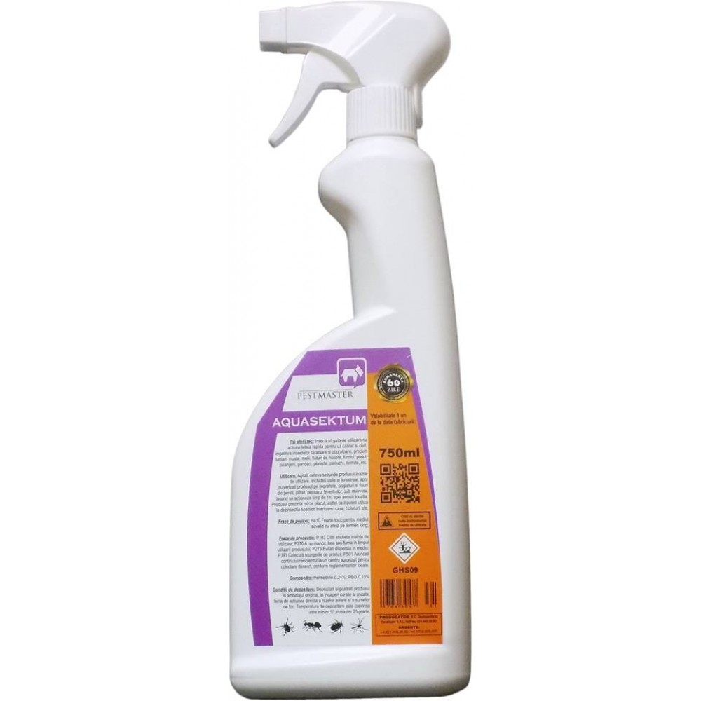 Pestmaster Aquasektum - Insecticid de soc 750ml