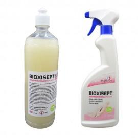 Pachet solutii pentru igienizarea mainilor, Bioxisept spray 750ml si Bioxisept gel antiseptic, 1l