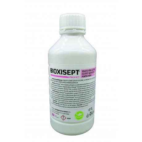 Pachet cu 3buc. Solutie antiseptica Bioxisept, pentru maini, fara clatire, cu rol dezinfectant - 1L