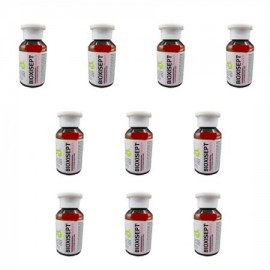 Pachet cu 10 bucati de gel antiseptic Bioxisept, cu efect dezinfectant - 100ml