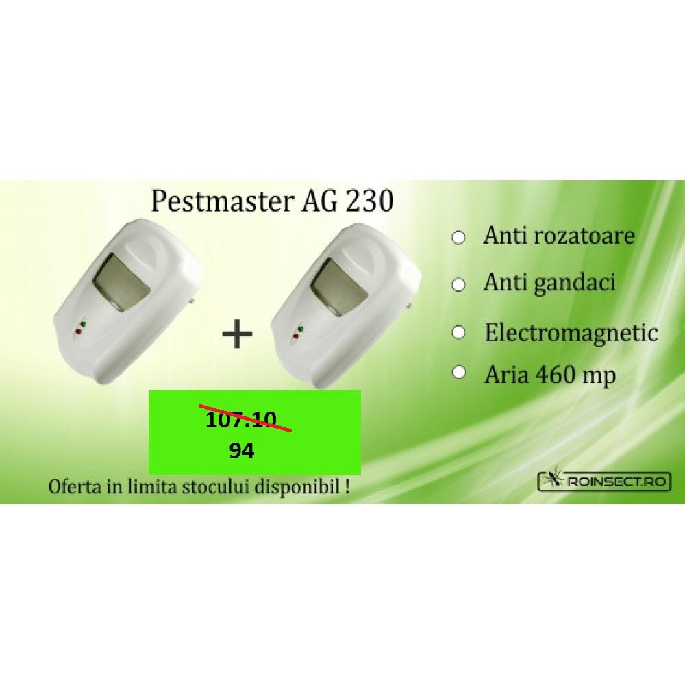 2 x  Aparat cu unde electromagnetice anti gandaci, anti rozatoare Pestmaster AG230 - 230mp