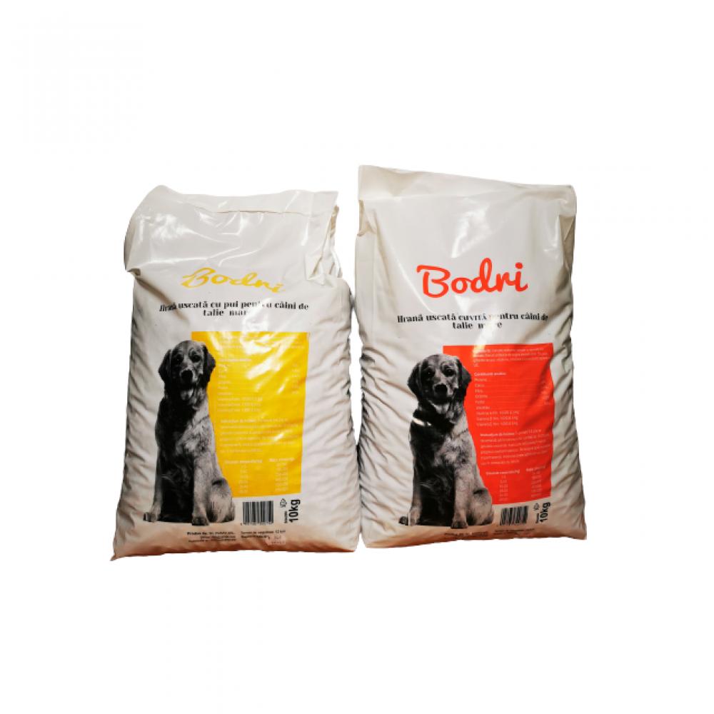 Pachet compus din 2 saci hrana uscata Bodri pentru caini 10 kg