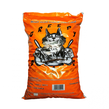 Hrana uscata pentru caini Greedy, aroma vita, 10 kg