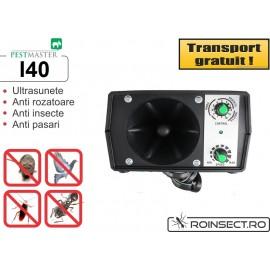 Aparat industrial cu ultrasunete impotriva rozatoarelor, pasarilor si insectelor - Pestmaster I40 - 400mp