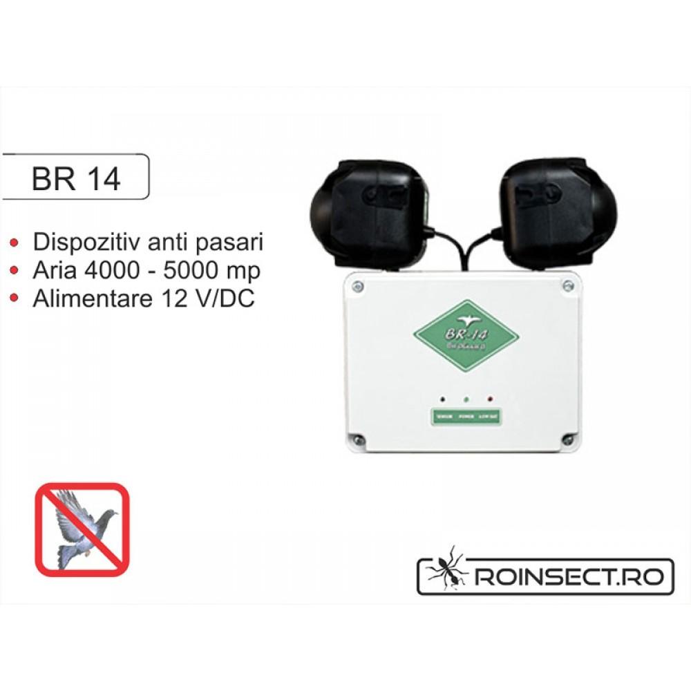 Dispozitiv electronic impotriva pasarilor daunatoare BR14