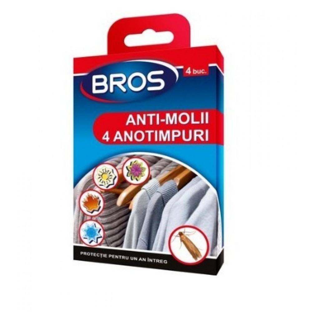 BROS Suport de agatat, anti molii 4 sezoane (259)