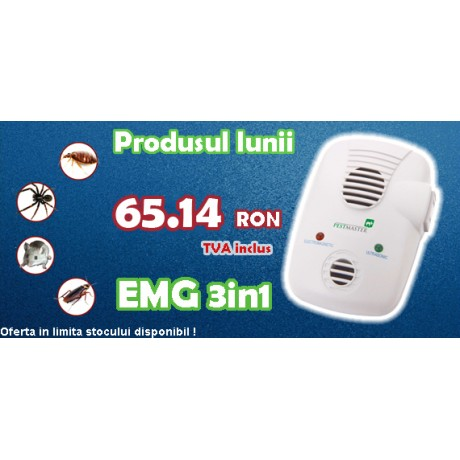 Aparat anti-daunatori Repel-EMG 3IN1 (cu unde electromagnetice) - 200 mp