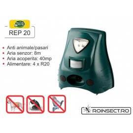 Aparat portabil pentru uz exterior anti caini, pisici, iepuri, pasari REP-20