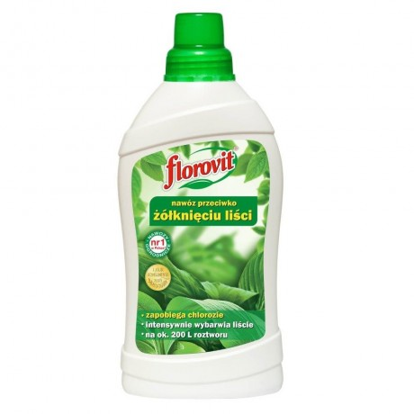Ingrasamant specializat lichid Florovit ce preintampina ingalbenirea frunzelor 1L