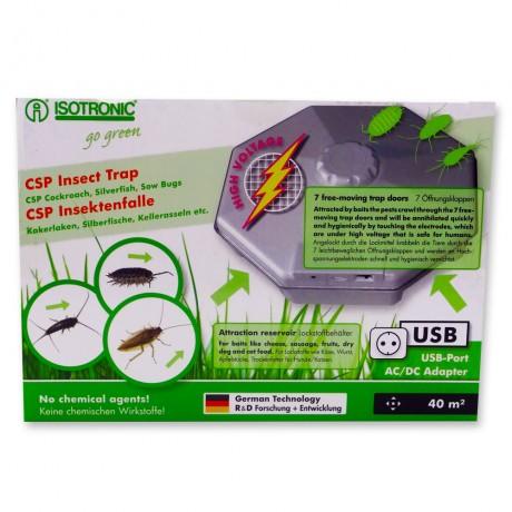 Capcana pentru interior cu lamele electrice anti insecte, gandaci, gandaci de canal CSP 77030, 40mp