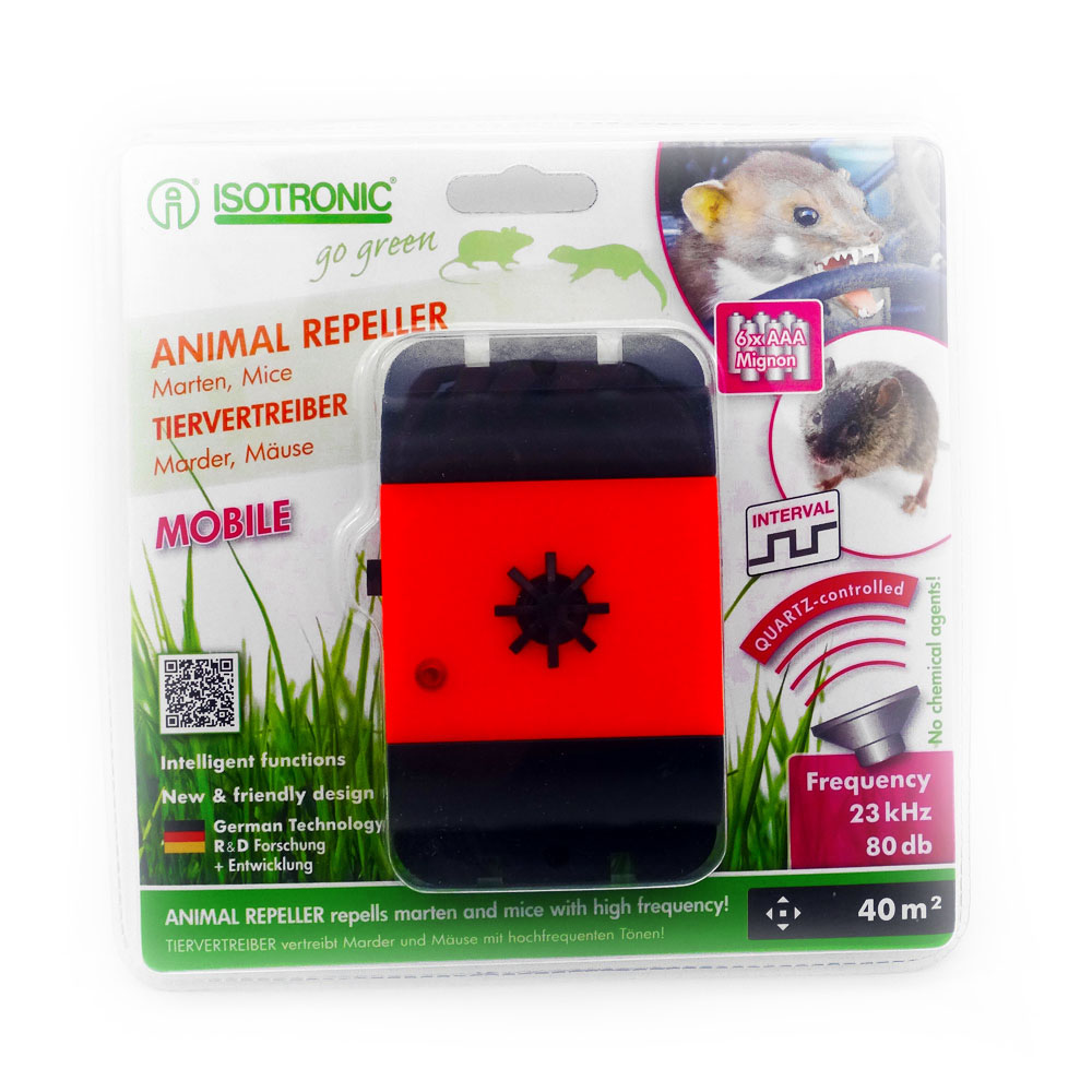 Aparat mobil anti-rozatoare, jderi ,dihori ,soareci ,sobolani Animal Repeller Mobile 78480 40mp