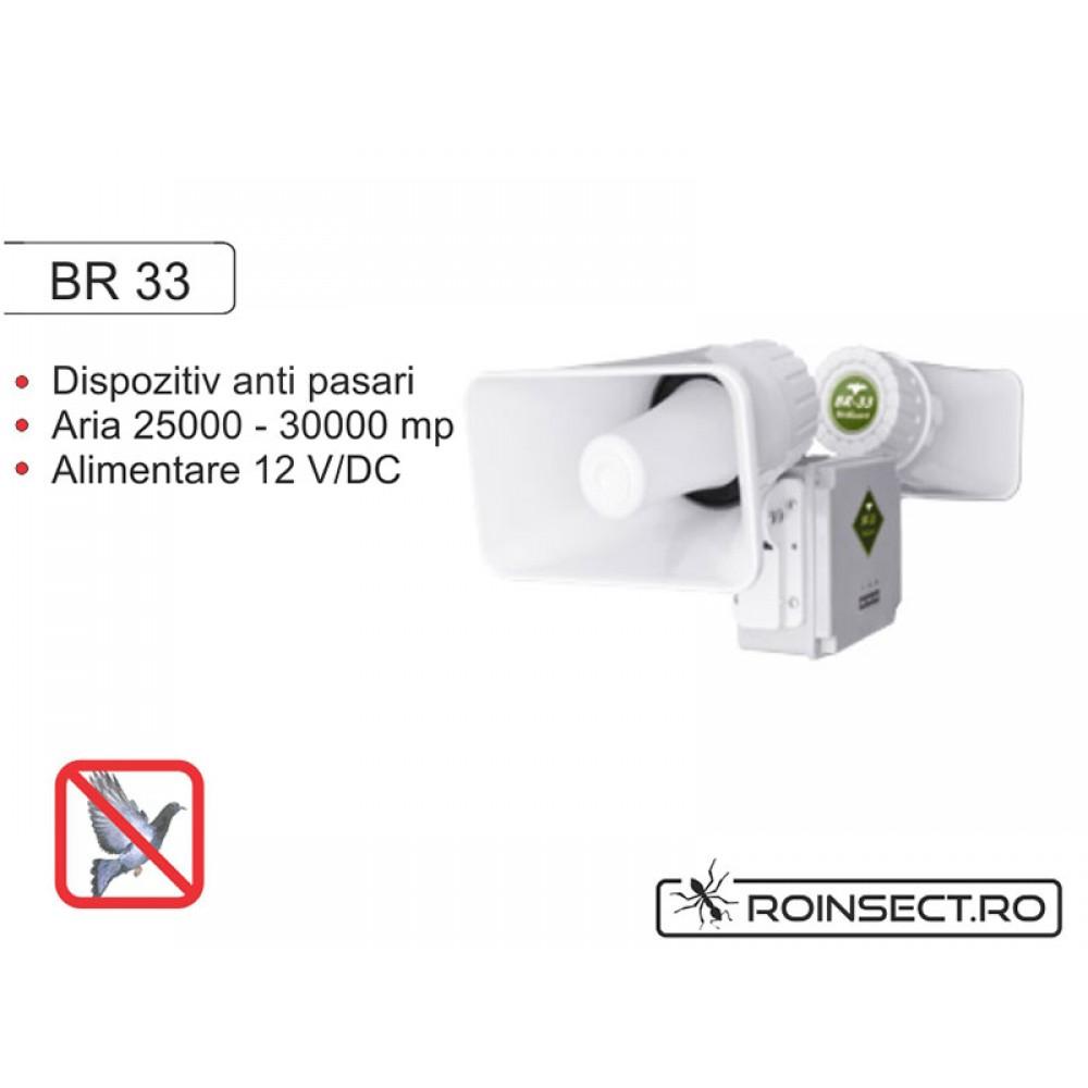 Dispozitiv electronic impotriva pasarilor daunatoare BR 33
