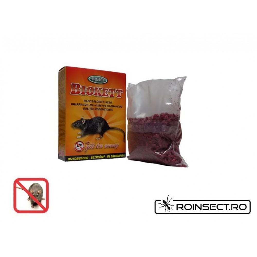 Biokett rodenticid sub forma de boabe de cereale impregnate  (200gr.)