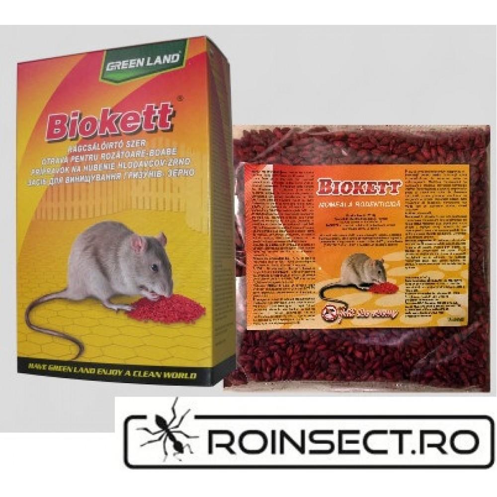Biokett Pak rodenticid sub forma de boabe de cereale impregnate (200gr.)