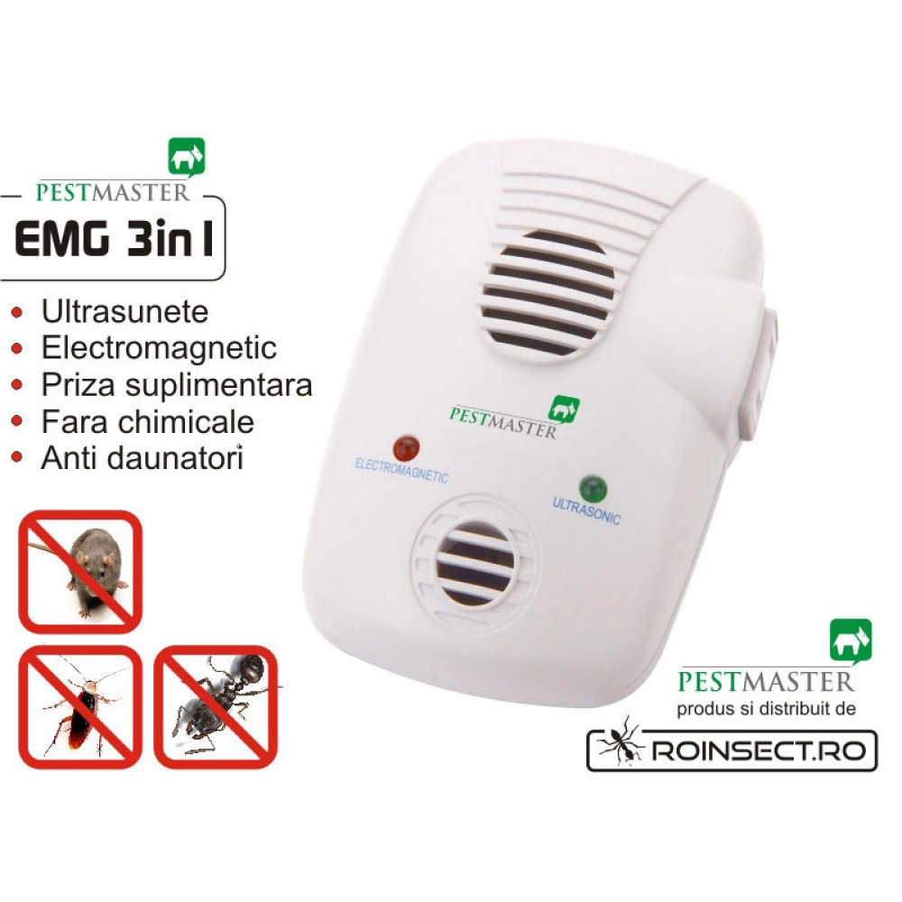 Aparat anti-daunatori Repel-EMG 3IN1 (cu unde electromagnetice) - 200 mp