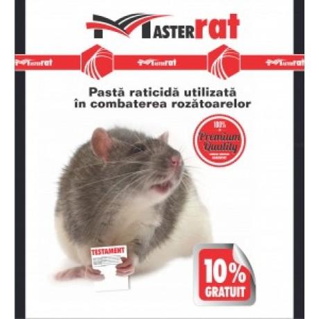 Pasta raticida rosie pentru combaterea soarecilor si sobolanilor MasterRat 100gr