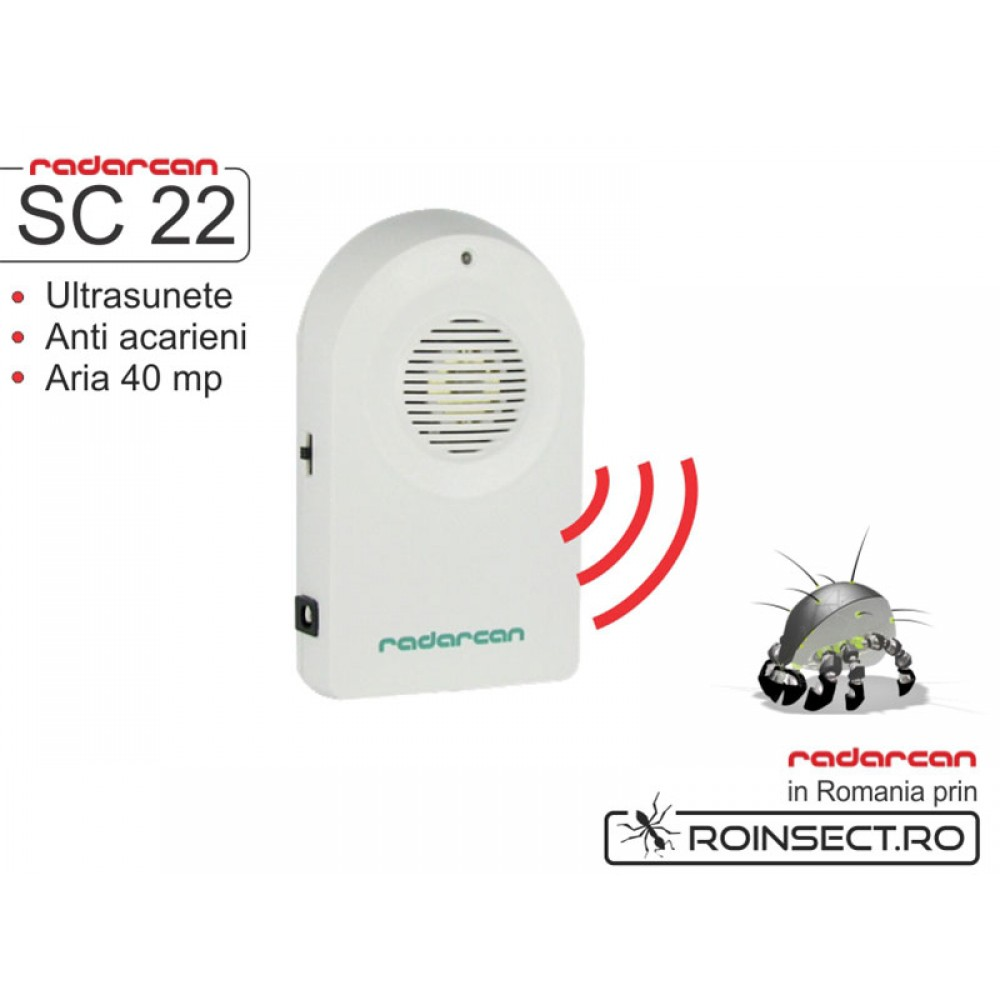 Aparat cu ultrasunete anti acarieni SC-22 (40 mp)