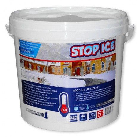 STOP ICE-produs biodegradabil pentru prevenire/combatere gheata 5kg