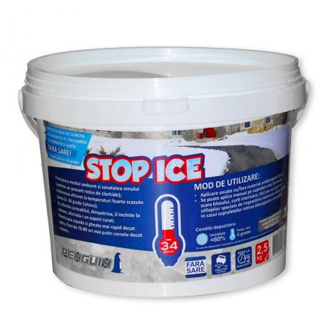 STOP ICE produs biodegradabil pentru deszapezire, prevenire/ combatere gheata, dezghetare rapida 2.5kg