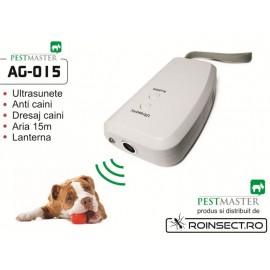 Dispozitiv cu ultrasunete pentru dresarea cainilor domestici sau alungarea celor agresivi - Pestmaster AG015 - 15 m