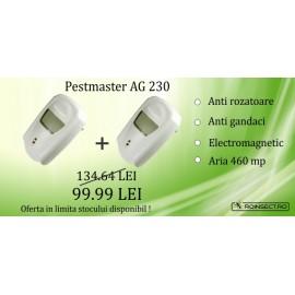 2 x  Pest Repeller - aparat cu unde electromagnetice anti gandaci, anti rozatoare Pestmaster AG230 - 230mp