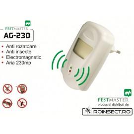 Aparat cu unde electromagnetice anti gandaci, anti rozatoare  Pestmaster AG230 - 230mp