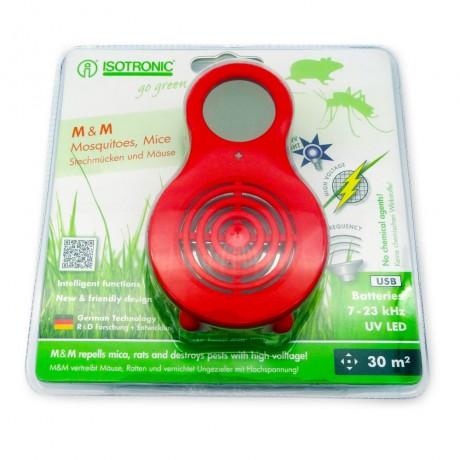 Aparat portabil cu UV( anti tantari, muste, purici, musculite de otet) si ultrasunete( anti soareci, sobolani) Isotronic MM 77010 30mp