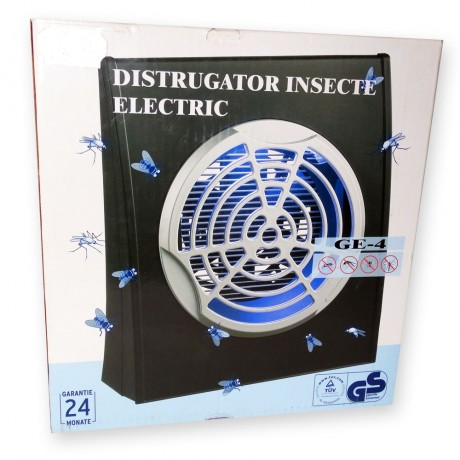 Aparat anti insecte cu lampa UV( 1x4W) si ventilator GE-4( 30 - 50 mp)