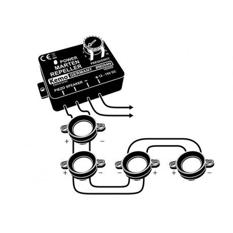 Dispozitiv anti-jderi, anti rozatoare pentru autovehicule,4 difuzoare, M094N