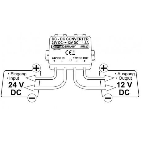 Convertor de tensiune 24V-12V M020