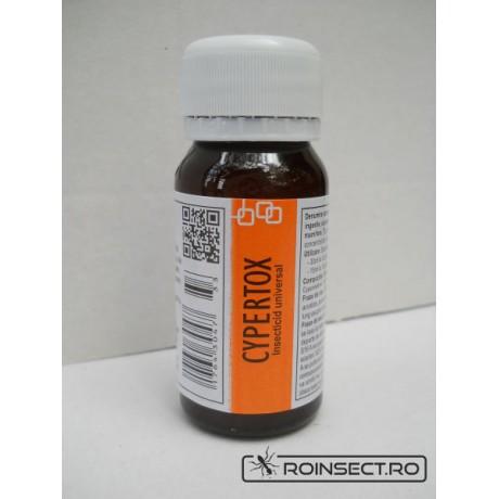 Insecticid profesional impotriva gandacilor, puricilor, mustelor, tantarilor, furnicilor - Cypertox 50 ml