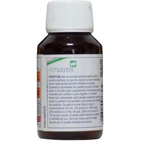 Oferta! Pachet solutie insecticida profesionala, formula concentrata, Pestmaster INSEKTUM 100ml x 5buc.