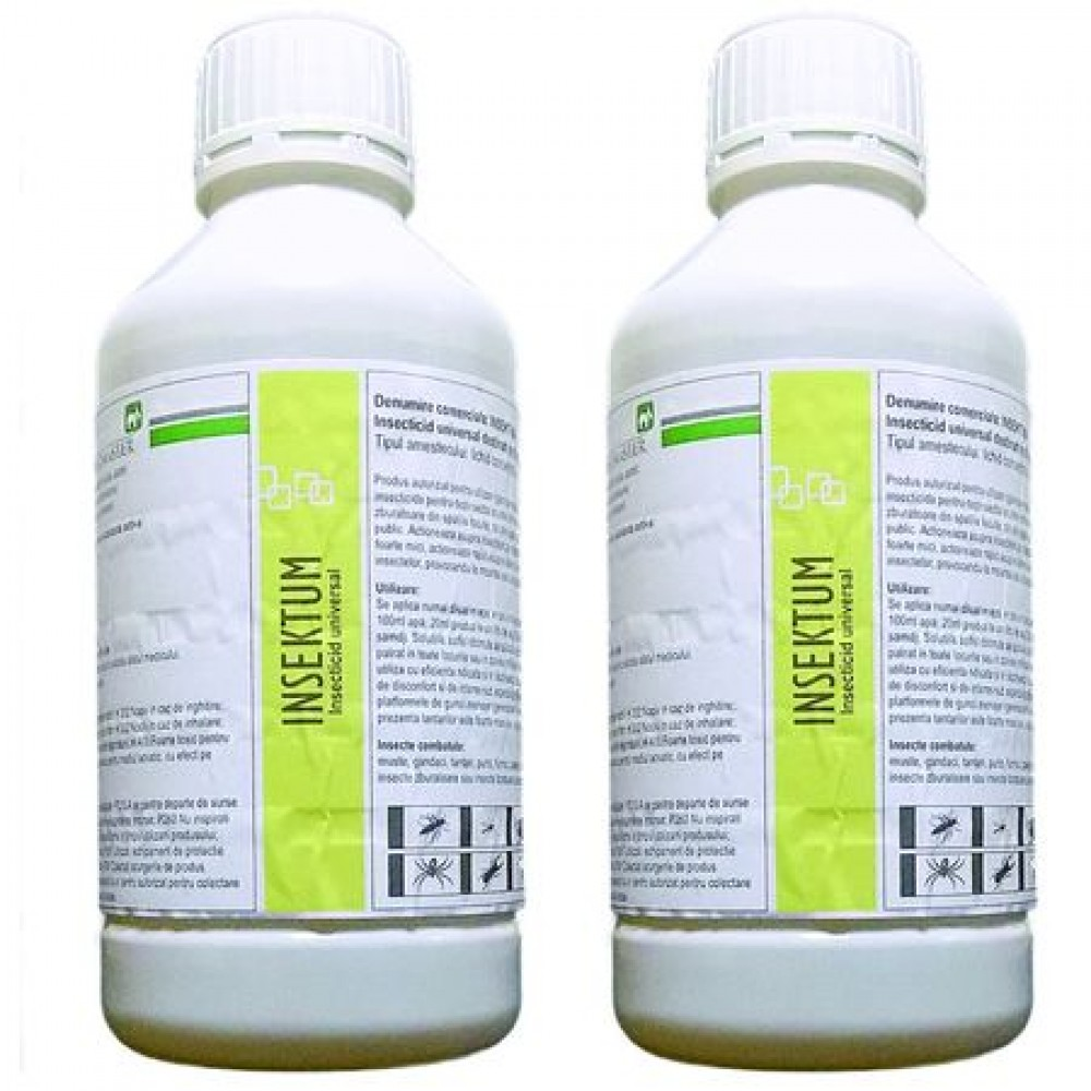 Oferta! Pachet solutie insecticida profesionala, formula concentrata, Pestmaster INSEKTUM 1l x 2buc.