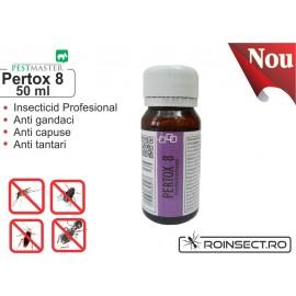 Solutie anti gandaci, muste, tantari, purici, capuse - Pertox 8 - 50ml