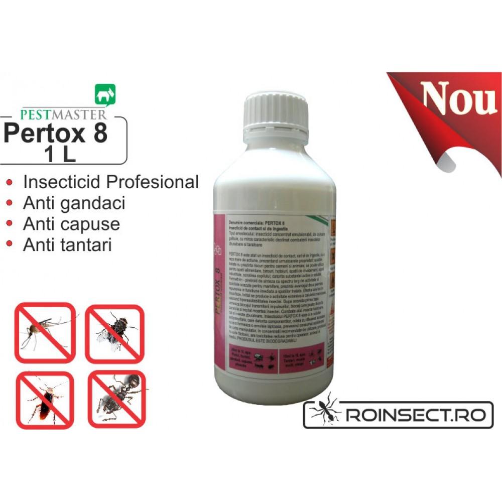 Solutie anti gandaci, muste, tantari, purici, capuse - Pertox 8 1L